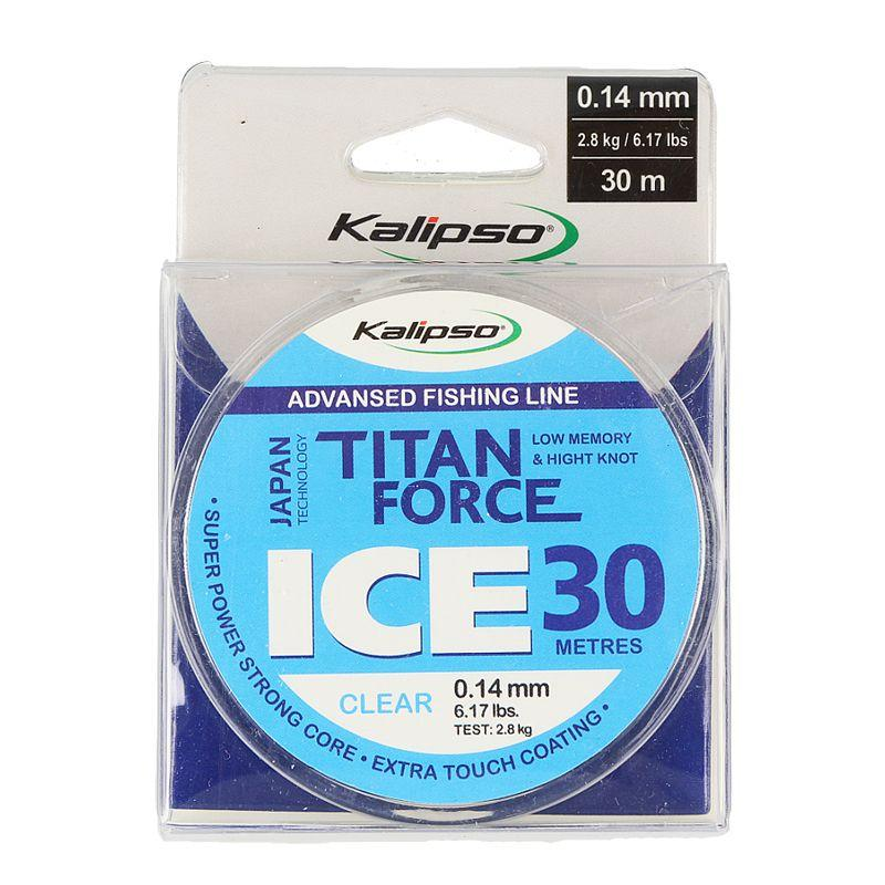 Леска Kalipso Titan Force Ice CL 30м 0,14мм