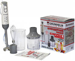 Блендерний набор GRUNHELM EBS-800SG 800Вт 2 скорость  рег чаша/стакан/венчик/метал насадка
