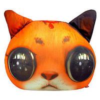 Подушка антистресс Кот глазастик Рыжий 40*30 см DT-ST-01-01