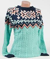 Свитер женский пуловер 5010 бирюза 46-48 (M-L)
