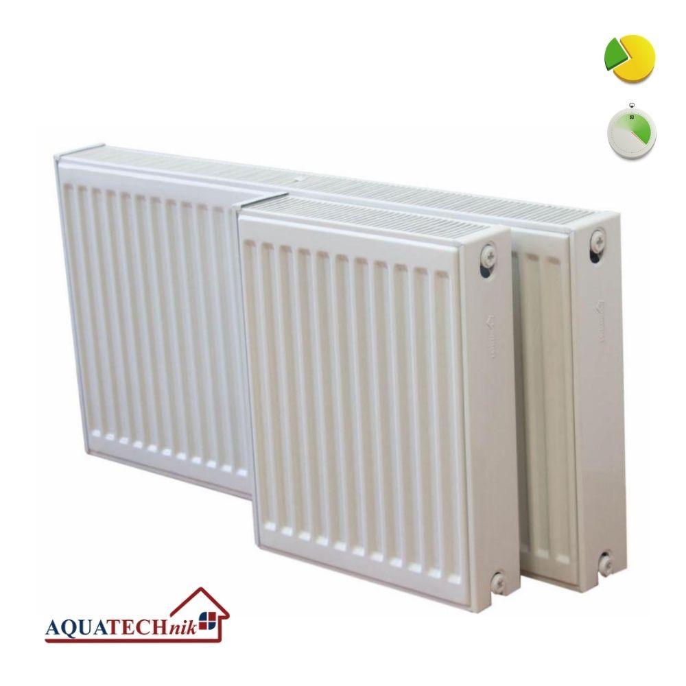 Сталевий радіатор AQUATECHnik 500х22х1100 нижнє підключення