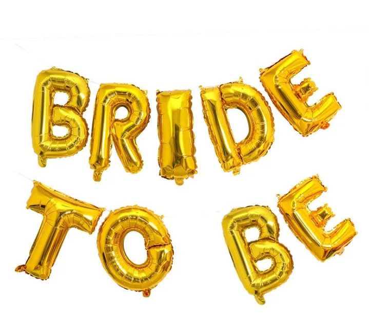 """Гірлянда фольгована золота """"Bride to be, дівічнік"""""""