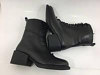 Высокие женские кожаные зимние ботильоны тм. Santini, фото 1