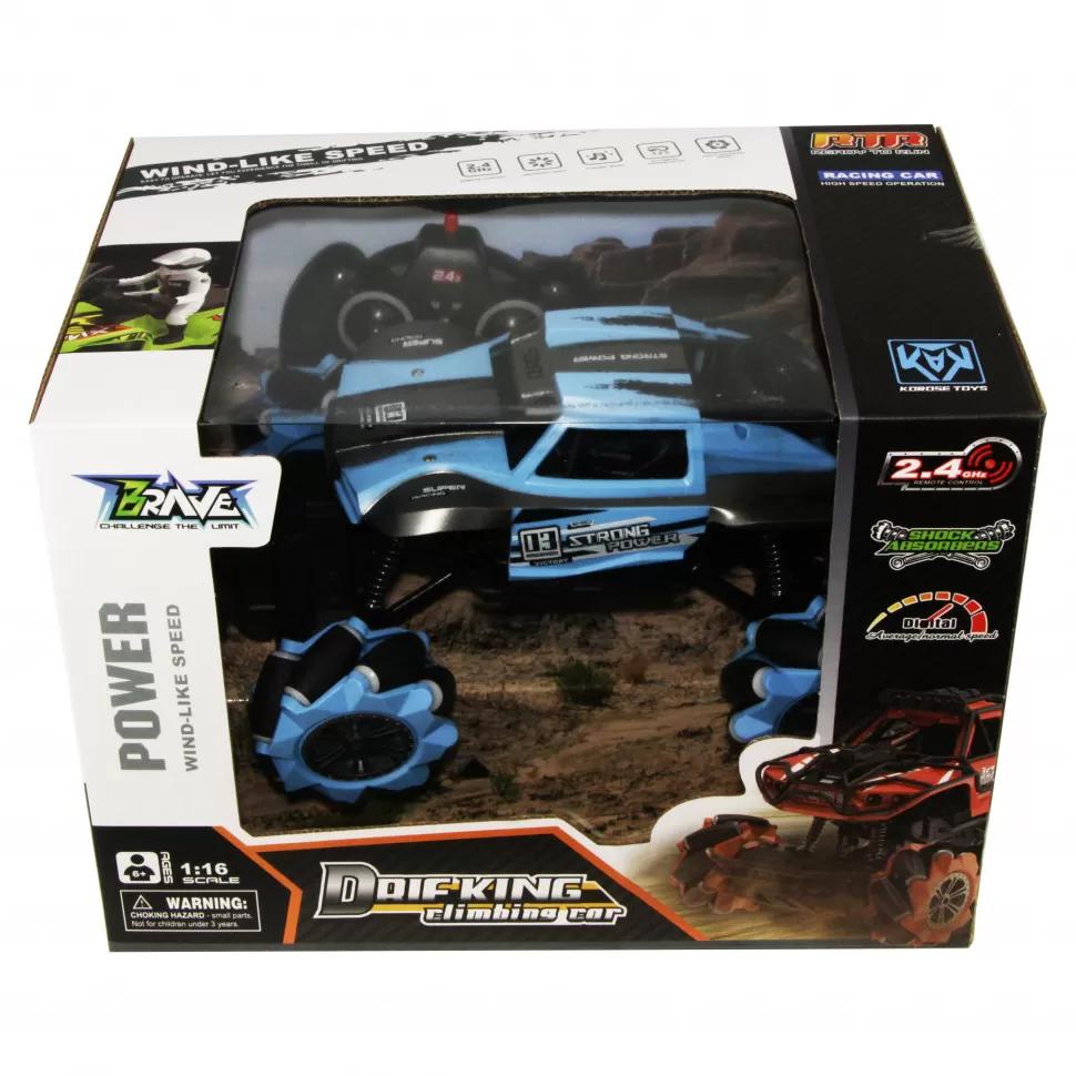 Машина на радиоуправлении Монстр-трак Rock Crawler 638A Синий