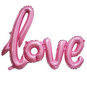 "Гірлянда фольгована рожева ""love, кохання"""