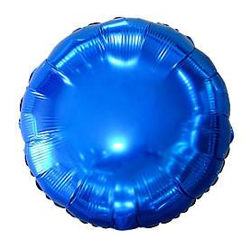 """Кулька 18"""" круг фольгована синій ТМ """"Агура"""" однотонний шт."""
