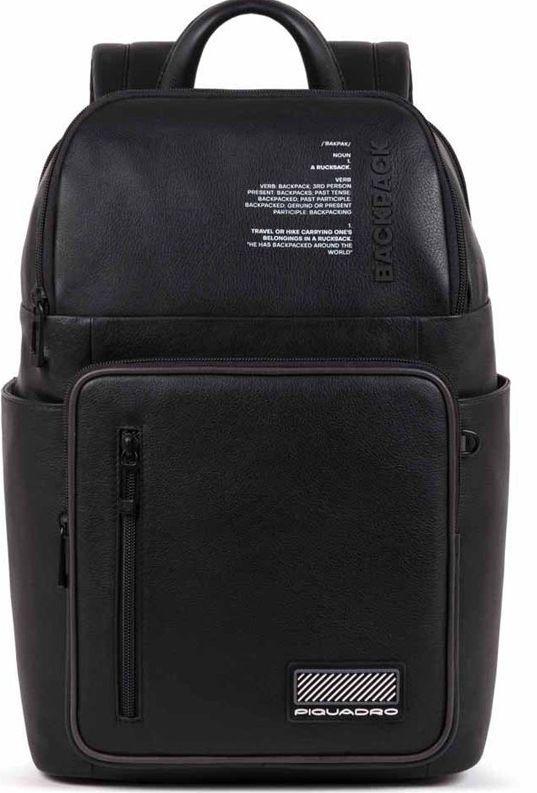 Рюкзак для ноутбука 14 дюймов Piquadro Ermes, черный