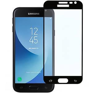Защитное стекло для Samsung J3 2016 j320 на весь экран защитное стекло на самсунг дж3 дж320 черное