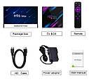 Smart TV Box приставка H96 MAX RK3318 4GB32GB Android 9.0 4K Youtube медиа-плеер, фото 3
