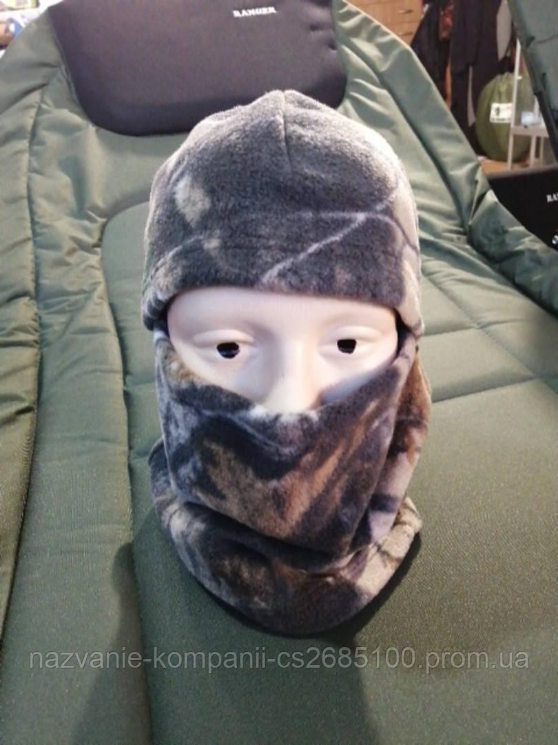 Балаклава зимняя камуфляж Лес (Флисовая)