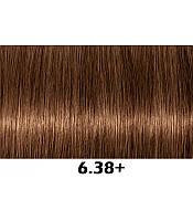 Аммиачная крем-краска для волос Indola Permanent Caring Color, 60 мл 6.38+ русые золотистый шоколадный интенсивный