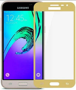 Защитное стекло для Samsung J3 2016 j320 на весь экран защитное стекло на самсунг дж3 дж320 золотое