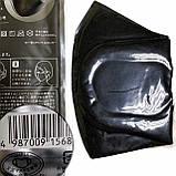 Антибактериальная маска pitta mask (питта) многоразовая угольная в упаковке 3 шт, фото 10