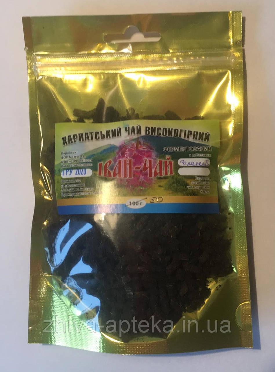 Иван-чай ферментированный зеленый (Карпатский высокогорный) 50грамм
