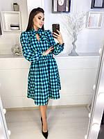 Женское модное  платье в клетку норма и батал  новинка 2020