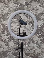 Кольцевая лампа со штативом для селфи Ring Supplementary 26 см на 1 держатель.