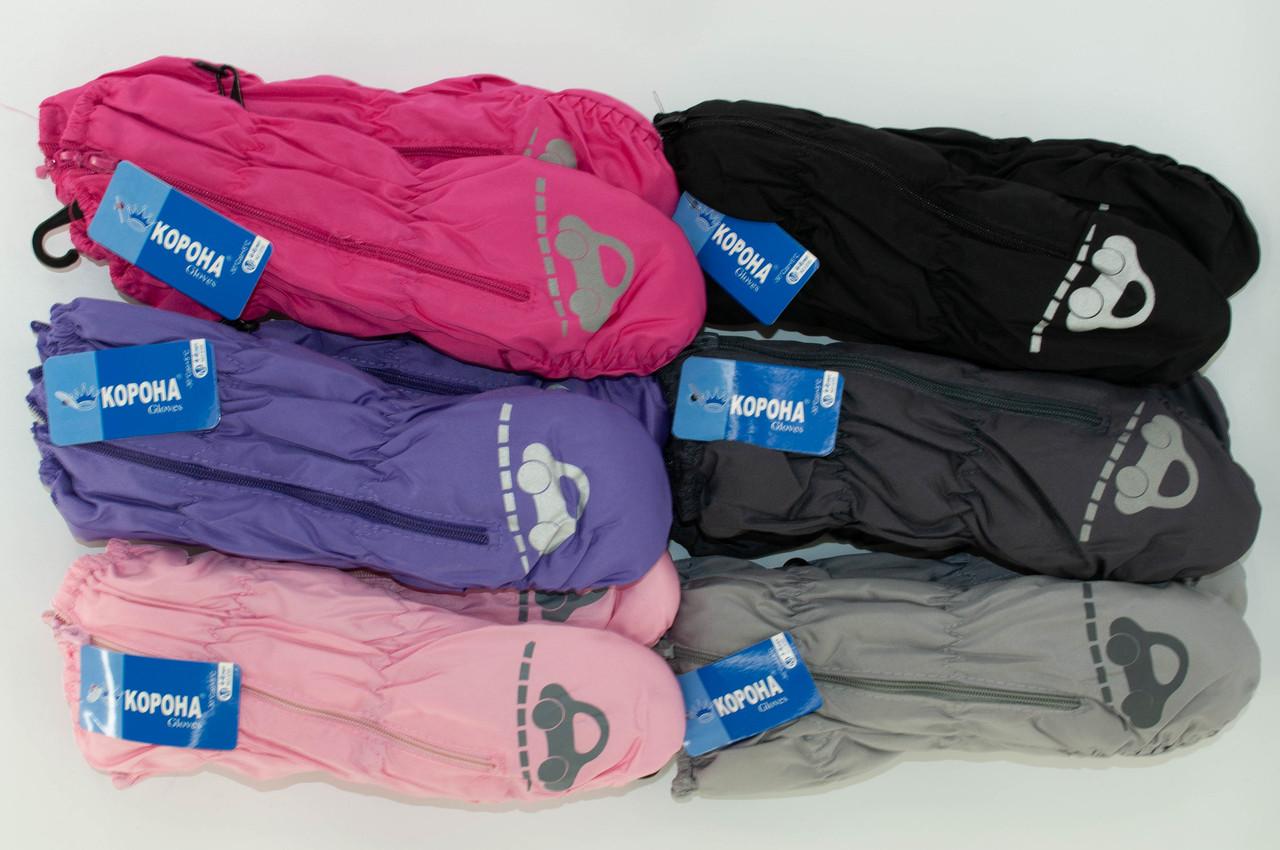 ОПТ Перчатки детские, лыжные, из плащевки  на флисе, р. 14 (4-6 лет), производитель Китай (6 шт/набор)