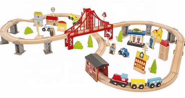 Дитяча дерев'яна залізниця CITY Avko