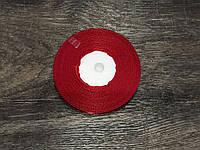 Атласная лента Темно Красная 9 мм 35 м