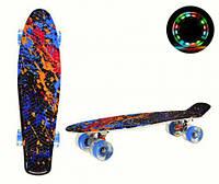 """Пенни борд """"Skulls & Chains"""", игрушки товары для детей,скейт,борды,детские скейтборды и пениборды"""