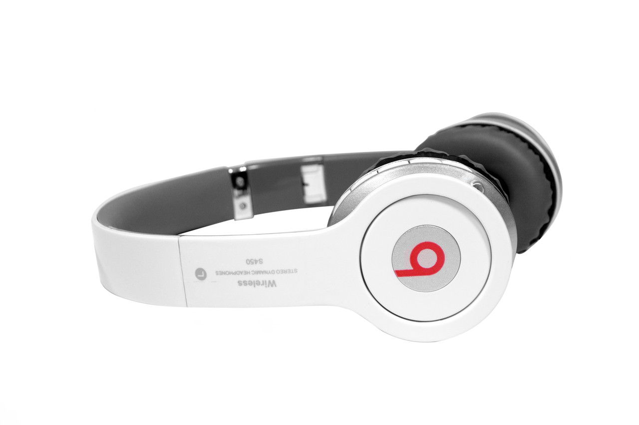 Bluetooth Наушники Beats Solo by dr. Dre S450 беспроводные белые