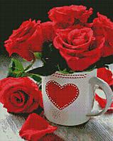Алмазная мозаика ArtStory Яркие розы 40*50см в коробке
