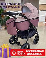 Детская коляска 2 в 1 Classik Len(Классик Лен) Victoria Gold бордо