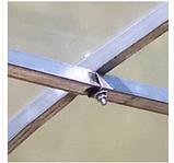 Теплиця «Веган» 4×10 з оцинкованої квадратної труби з полікарбонатом Soton 4 мм, фото 7