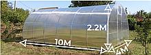 Теплица «Веган» 4х10 из оцинкованной квадратной трубы с поликарбонатом Soton 4 мм