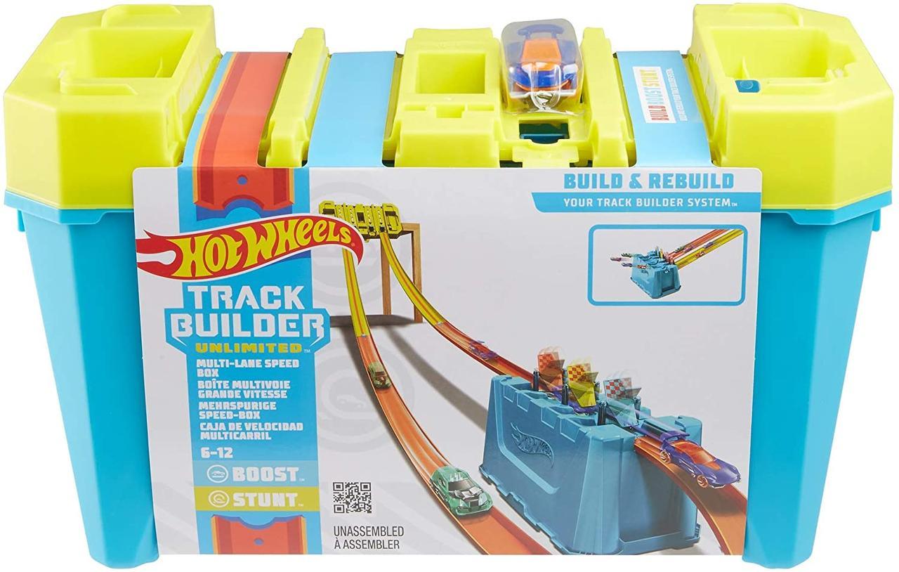 Игровой набор Хот Вилс Оригинал Грандиозные Трюки Hot Wheels Track Builder Gravity Box (GLC95)