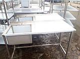 Стіл мийка 1600х600х850 чаша 500х450х300, фото 6