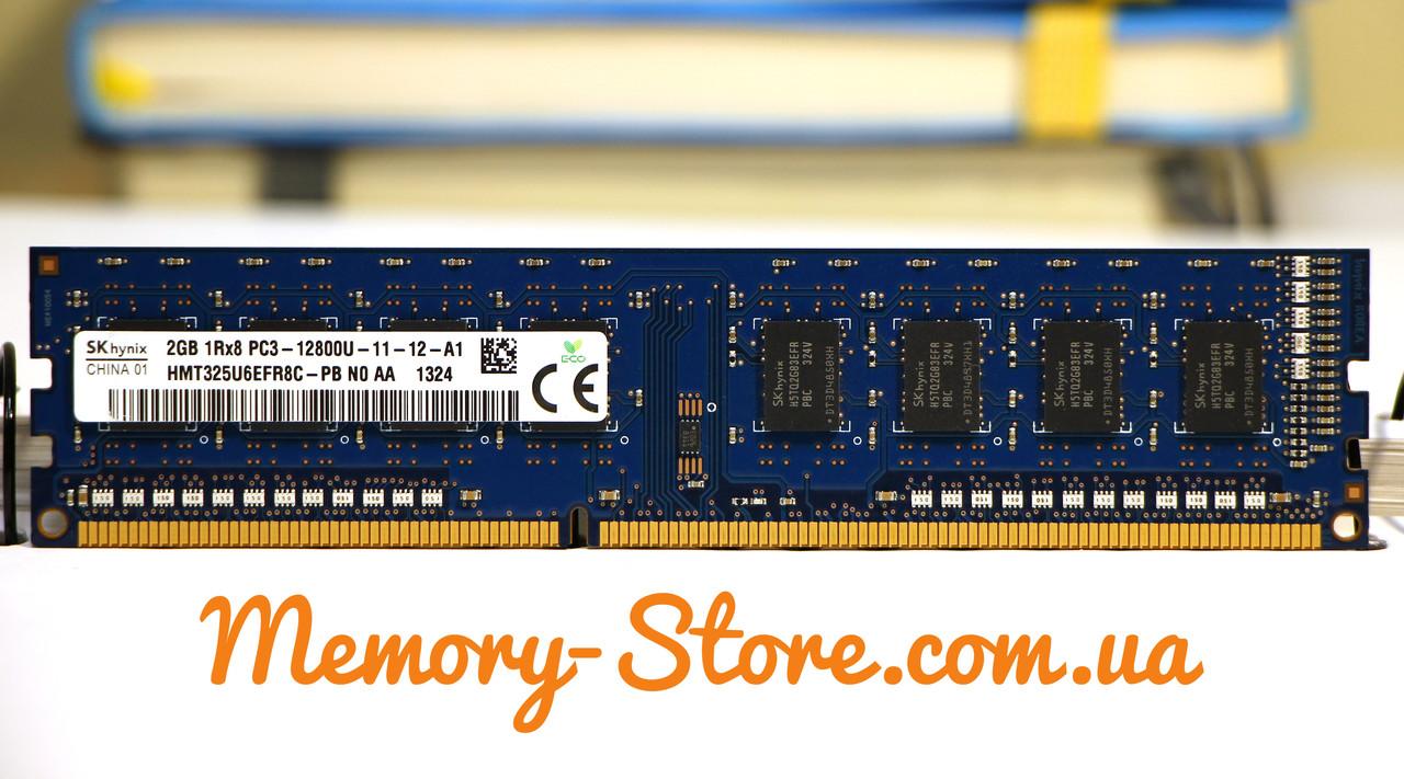 Оперативная память для ПК DDR3 Hynix 2Gb 1Rx8 PC3-12800 1600MHz Intel и AMD, б/у