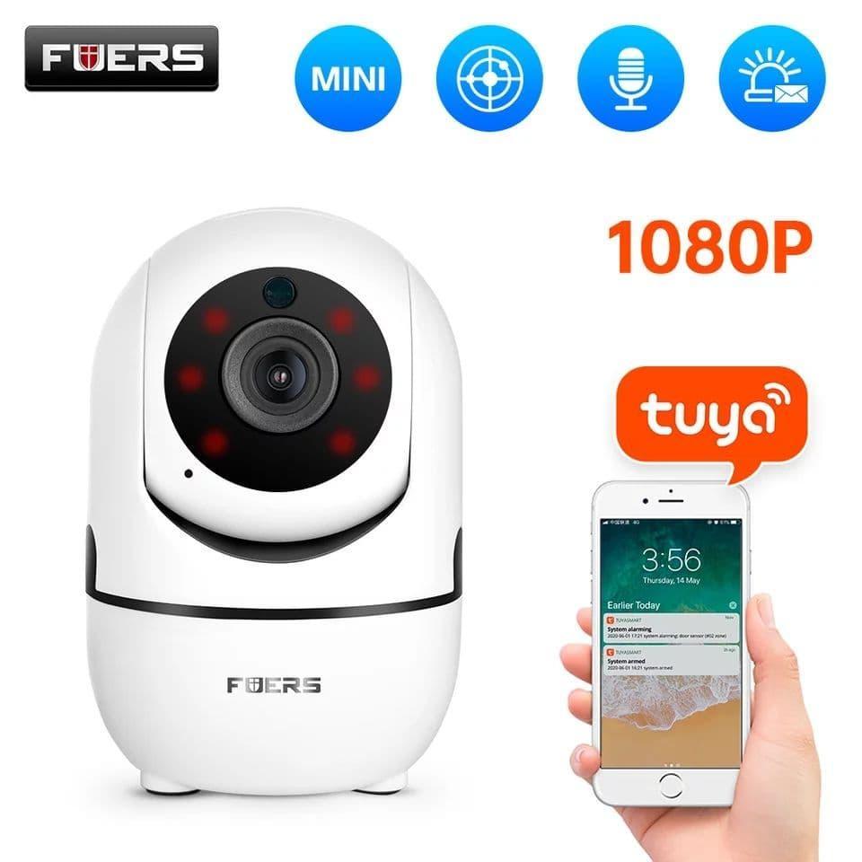 Охранная IP Wi-Fi камера Fuers T09T 1080P совместимая с системами безопасности Tuya