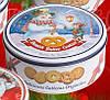 Печенье сливочное Bisquini Danish Butter Cookies Снеговик в ж/б 200 г Дания, фото 6