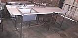 Стіл мийка 1600х600х850 чаша 500х450х300, фото 8