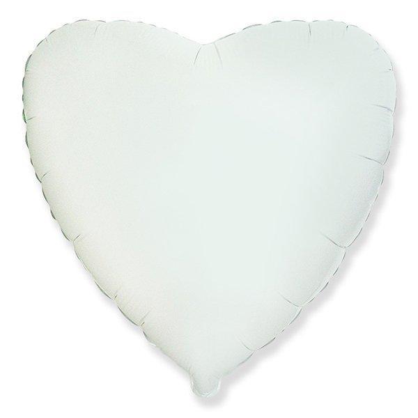"""Кулька 18"""" серце фольгована білий ТМ """"Агура"""" однотонний шт."""