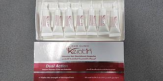 Кератин для волосся в ампулах Hair Clinic Keratin Intensive Hair Nourishment Ampoules