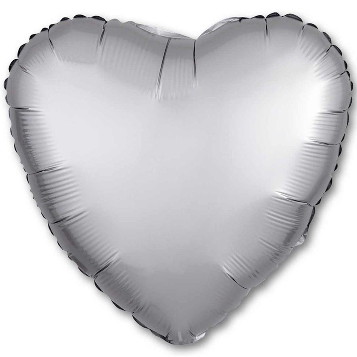 """Кулька 18 серце"""" фольгована, графіт ТМ """"Агура"""" однотонний шт."""