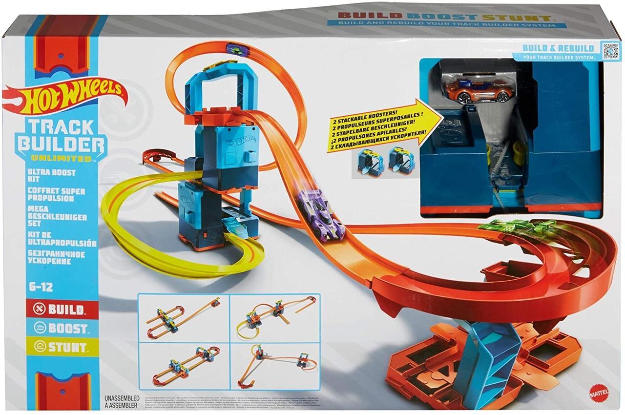 Оригинальный набор Хот Вилс Hot Wheels Track Builder Unlimited Ultra Stackable Booster (GWT44)