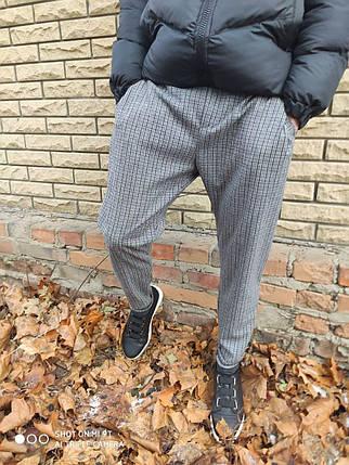 Мужской спортивный костюм 2Y Premium со светоотражающими элементами ДМ-штаны в клетку, фото 2