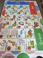 Ковер детский, безворсовый, 140х190см. Турция Учим Английский