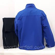 Мужской спортивный трикотажный костюм большого размера Soccer Турция синий,  размеры 3хл 4хл 5хл 6хл, фото 3