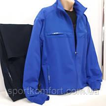 Мужской спортивный трикотажный костюм большого размера Soccer Турция синий,  размеры 3хл 4хл 5хл 6хл, фото 2