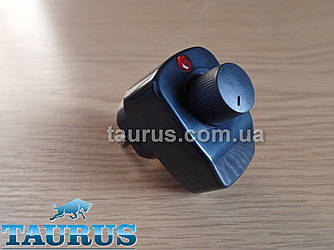 Чорний регулятор на вилці для электроТЭНов потужністю до 500Вт., з індикатором. Димер Туреччина Black