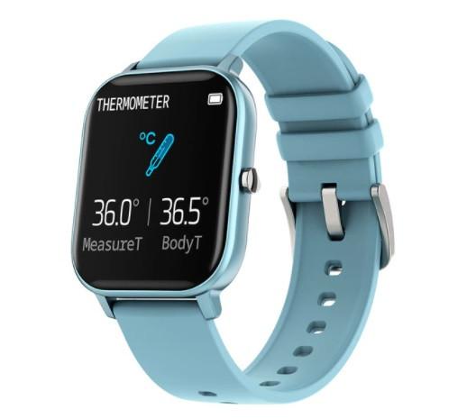Смарт часы Colmi P8 Pro Blue с функцией термометра, пульсометра