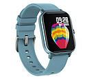 Смарт часы Colmi P8 Pro Blue с функцией термометра, пульсометра, фото 4