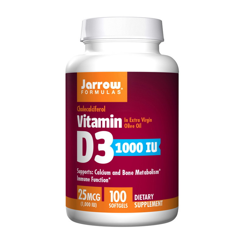 Витамины Д3 Jarrow Formulas Vitamin D3 1000 IU (25 mcg) (200 softgels)