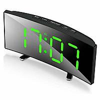 Настольные часы с термометром DT-6507, электронные зеркальные led часы с будильником   настільний годинник