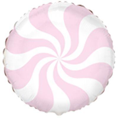 """Кулька 18"""" круг фольгована рожевий """"Макарун, цукерка"""" ТМ """"Flexmetal"""" шт."""