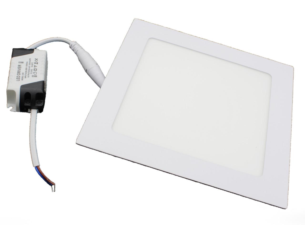 #448/1 12W SQUARE PANEL (metal) Pure White Б-класс Светодиодный светильник